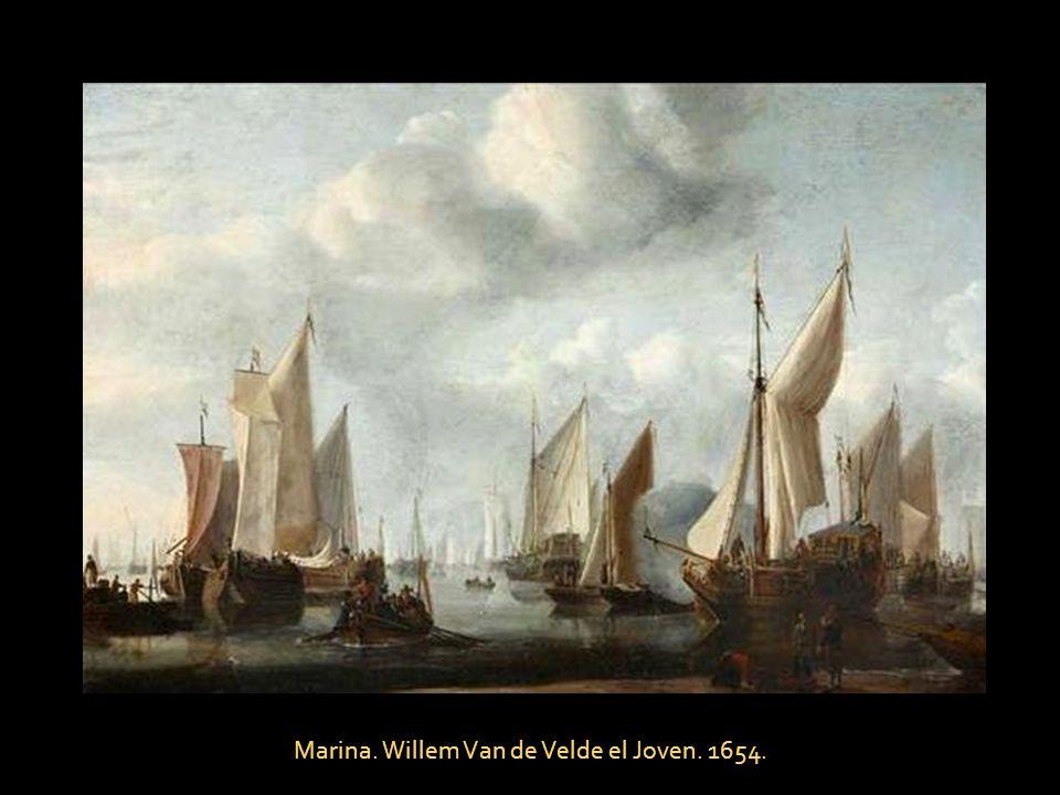 Marina. Willem Van de Velde el Joven. 1654.