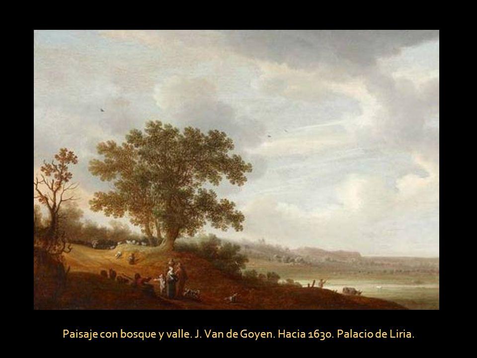 Paisaje con bosque y valle. J. Van de Goyen. Hacia 1630