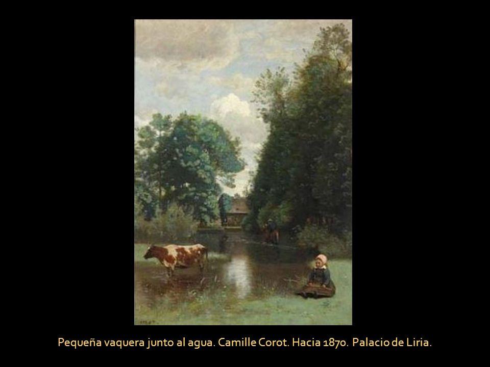 Pequeña vaquera junto al agua. Camille Corot. Hacia 1870
