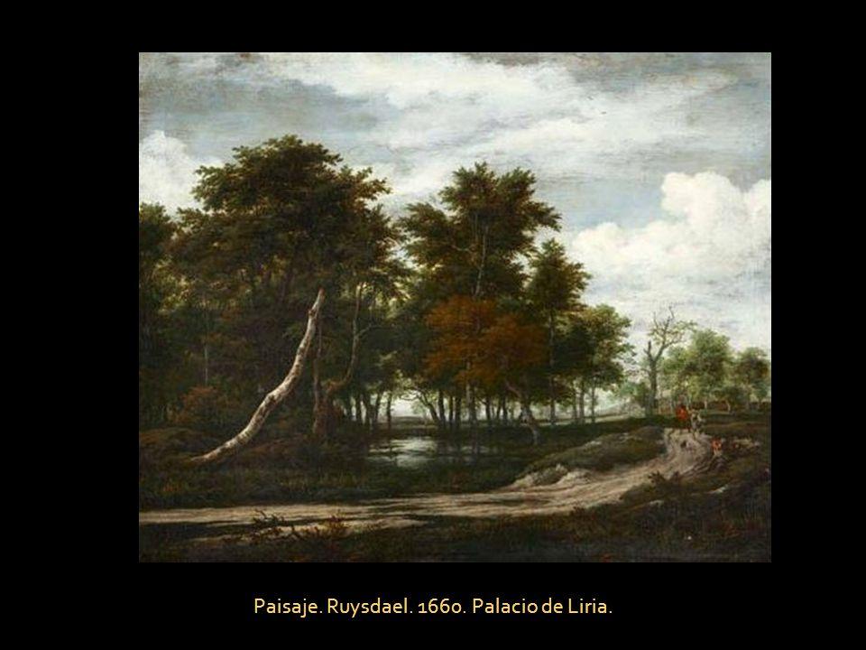 Paisaje. Ruysdael. 1660. Palacio de Liria.