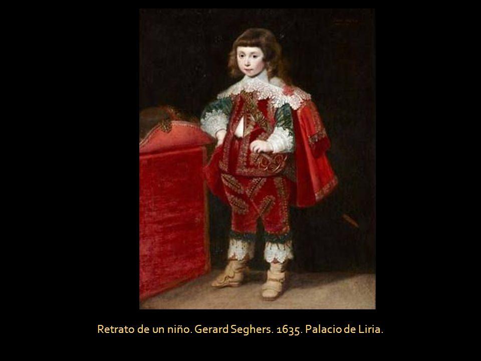 Retrato de un niño. Gerard Seghers. 1635. Palacio de Liria.
