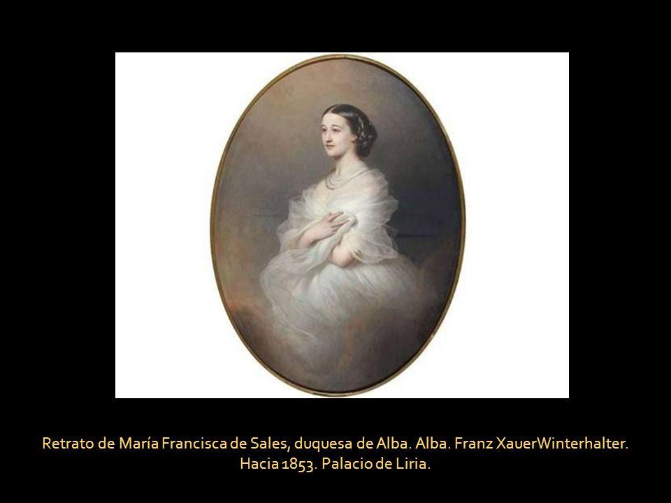 Retrato de María Francisca de Sales, duquesa de Alba. Alba