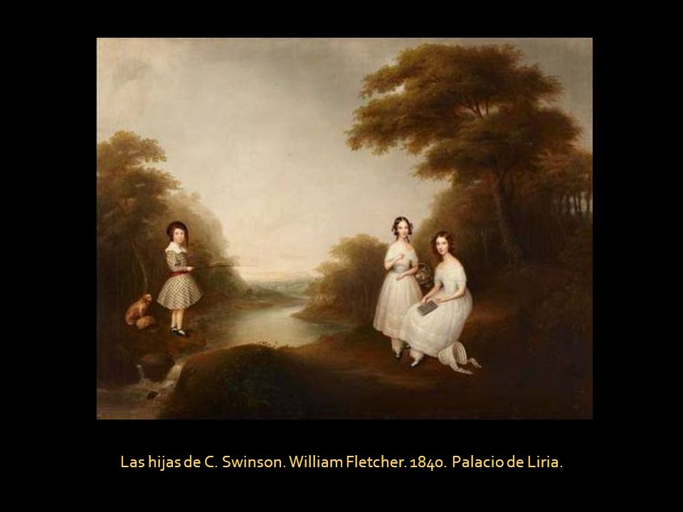 Las hijas de C. Swinson. William Fletcher. 1840. Palacio de Liria.