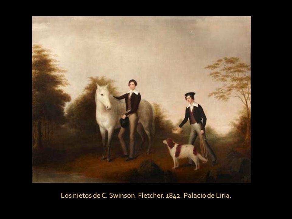 Los nietos de C. Swinson. Fletcher. 1842. Palacio de Liria.