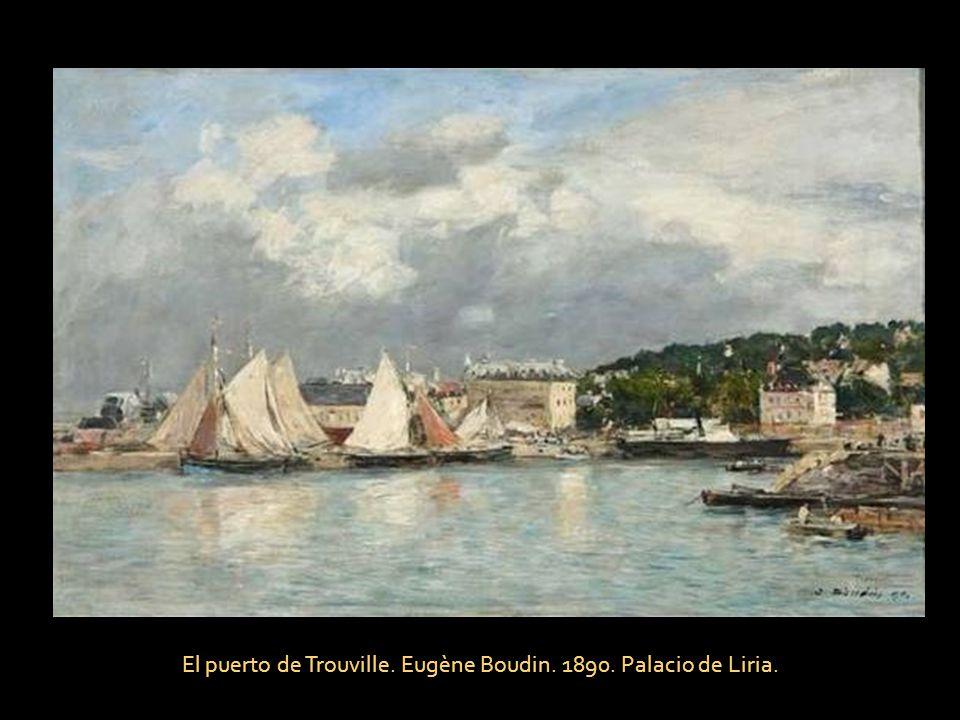 El puerto de Trouville. Eugène Boudin. 1890. Palacio de Liria.