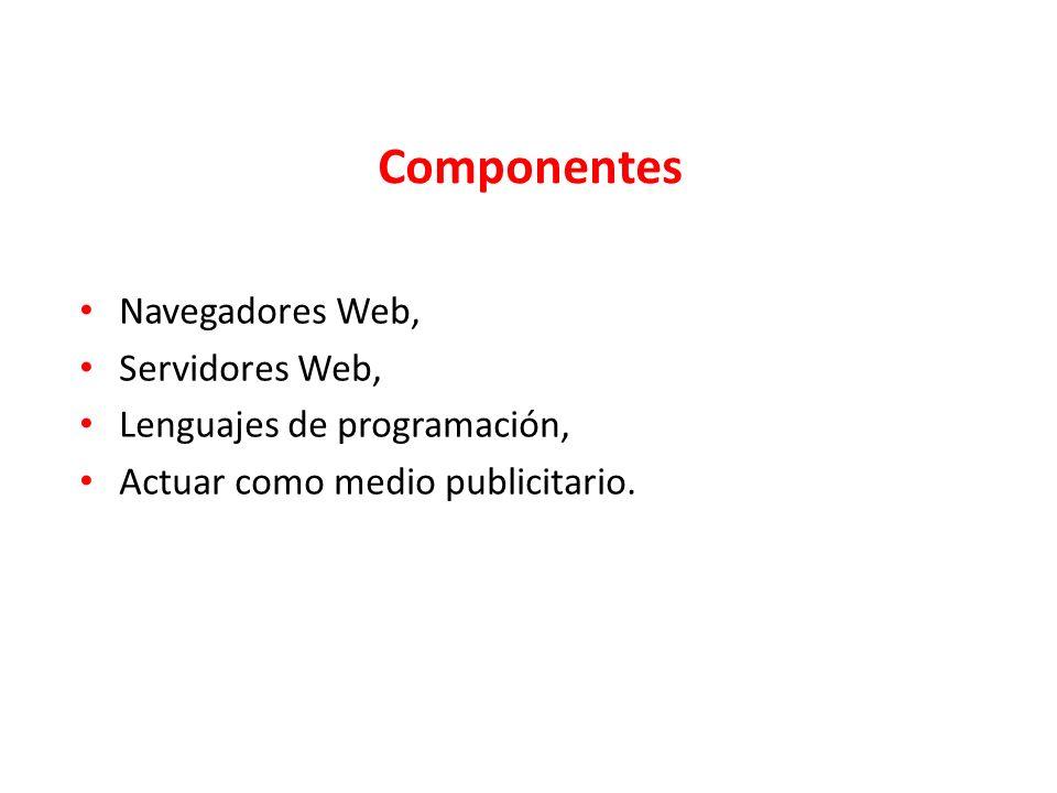 Componentes Navegadores Web, Servidores Web,