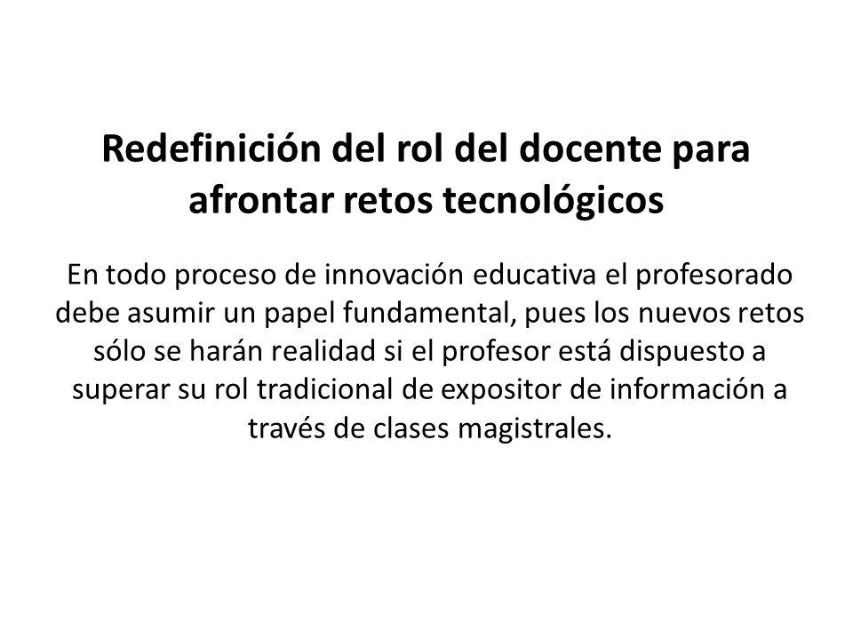 Redefinición del rol del docente para afrontar retos tecnológicos