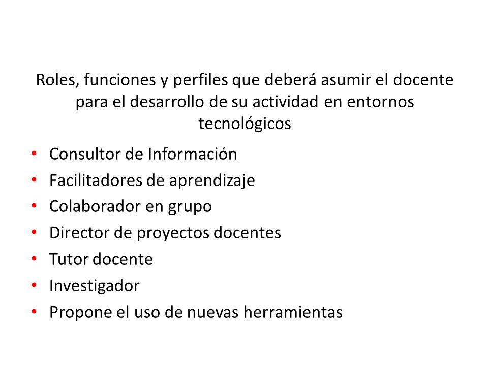 Consultor de Información Facilitadores de aprendizaje