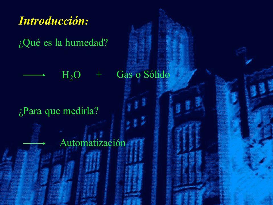 Introducción: ¿Qué es la humedad H2O + Gas o Sólido