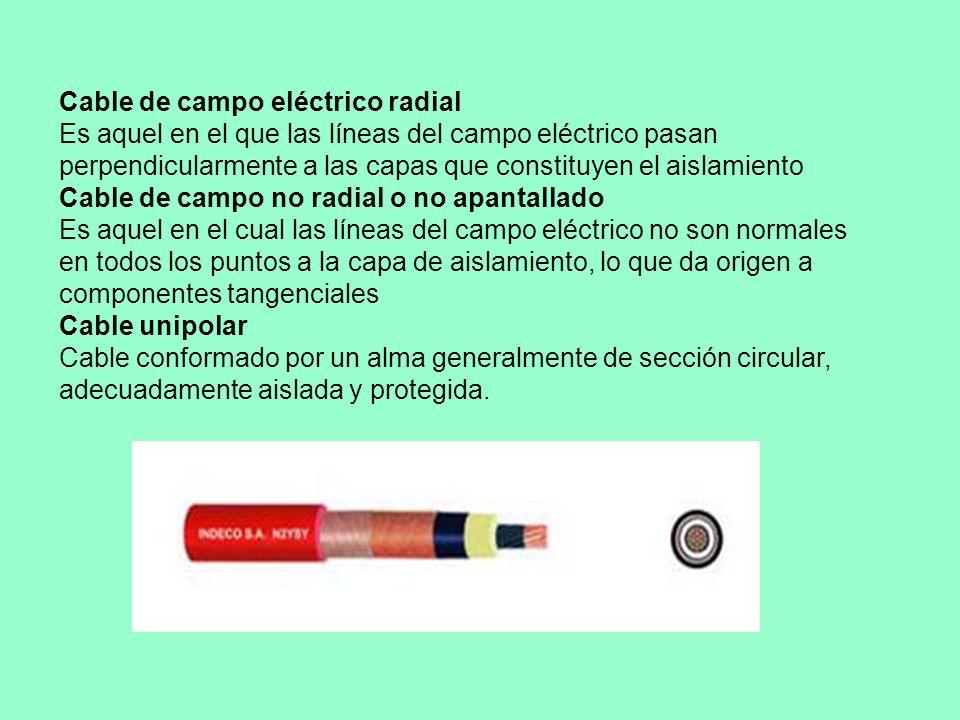 Cable de campo eléctrico radial