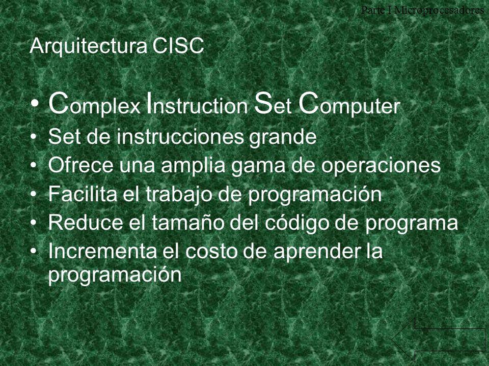 Complex Instruction Set Computer