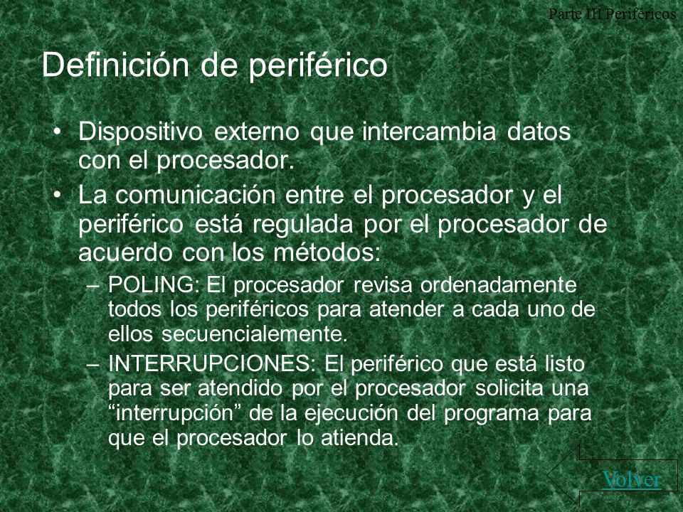 Definición de periférico