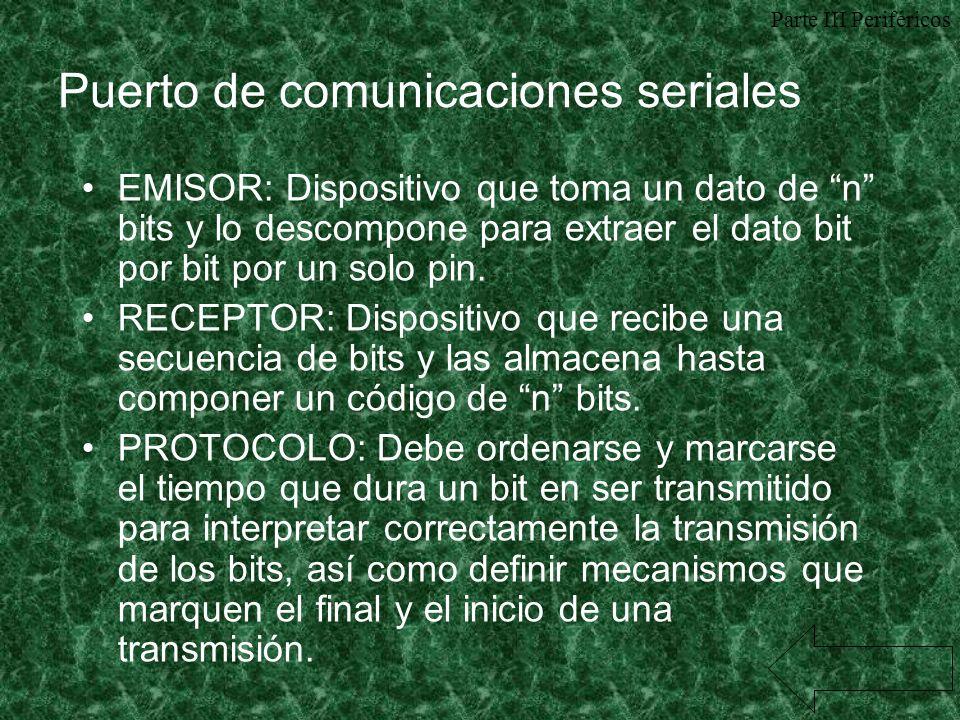 Puerto de comunicaciones seriales