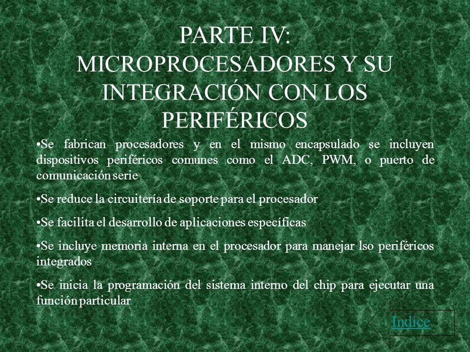MICROPROCESADORES Y SU INTEGRACIÓN CON LOS PERIFÉRICOS