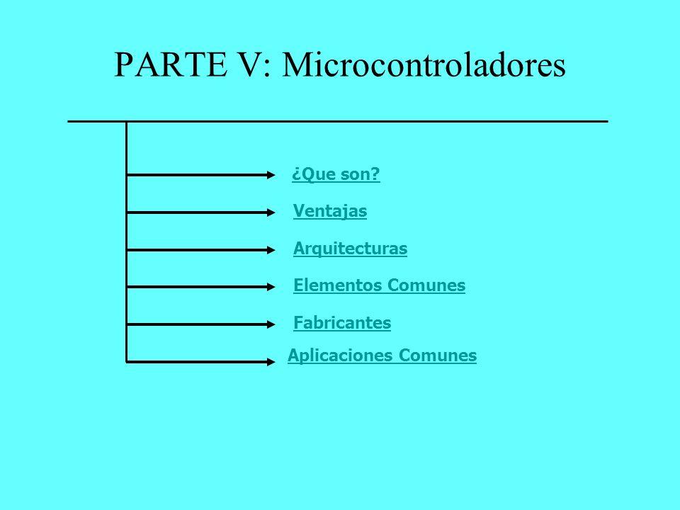 PARTE V: Microcontroladores