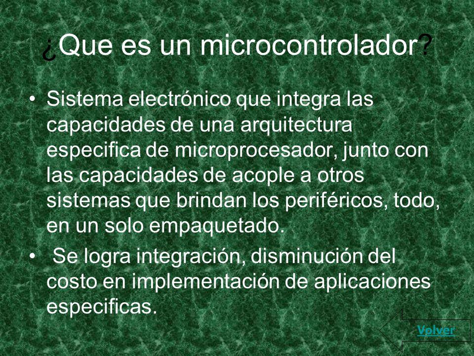 ¿Que es un microcontrolador