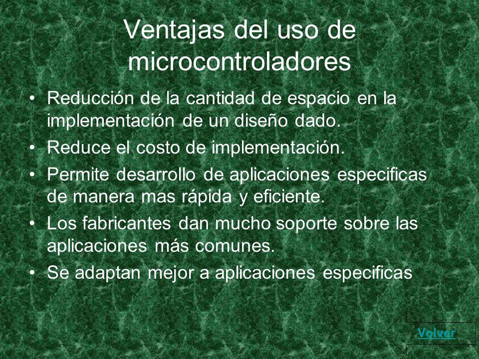 Ventajas del uso de microcontroladores
