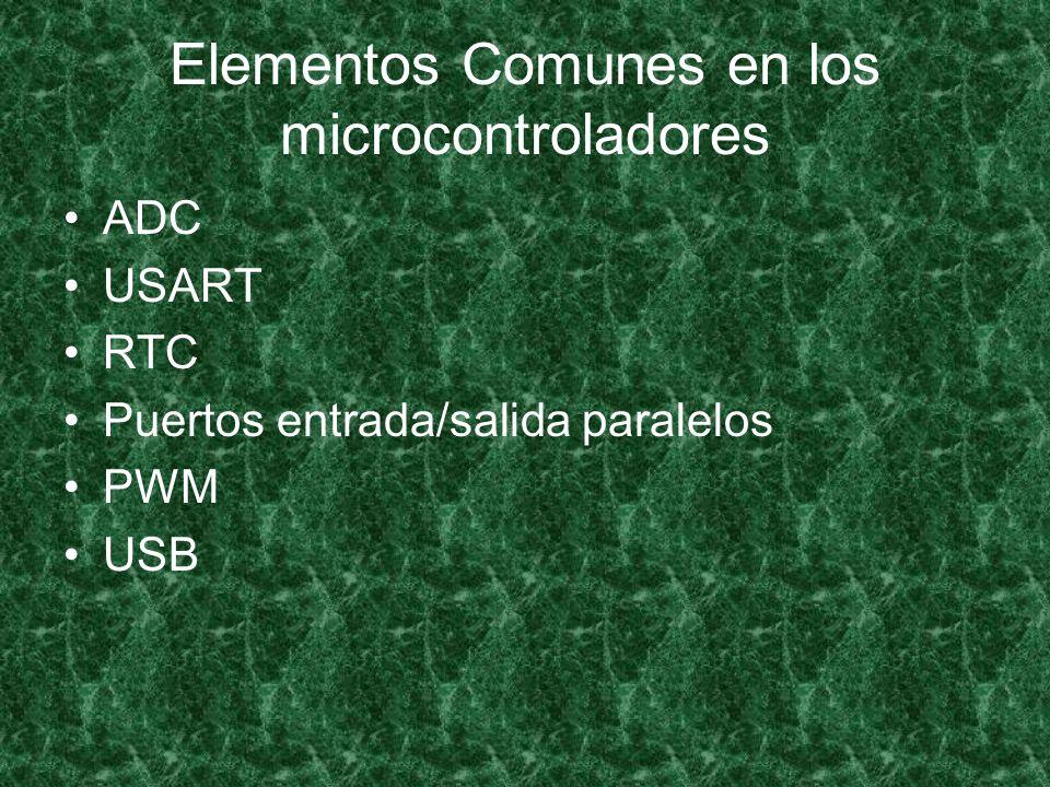 Elementos Comunes en los microcontroladores