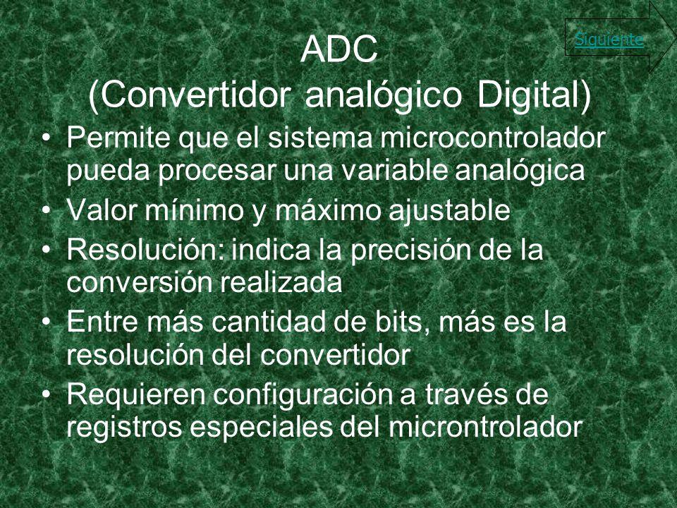 ADC (Convertidor analógico Digital)