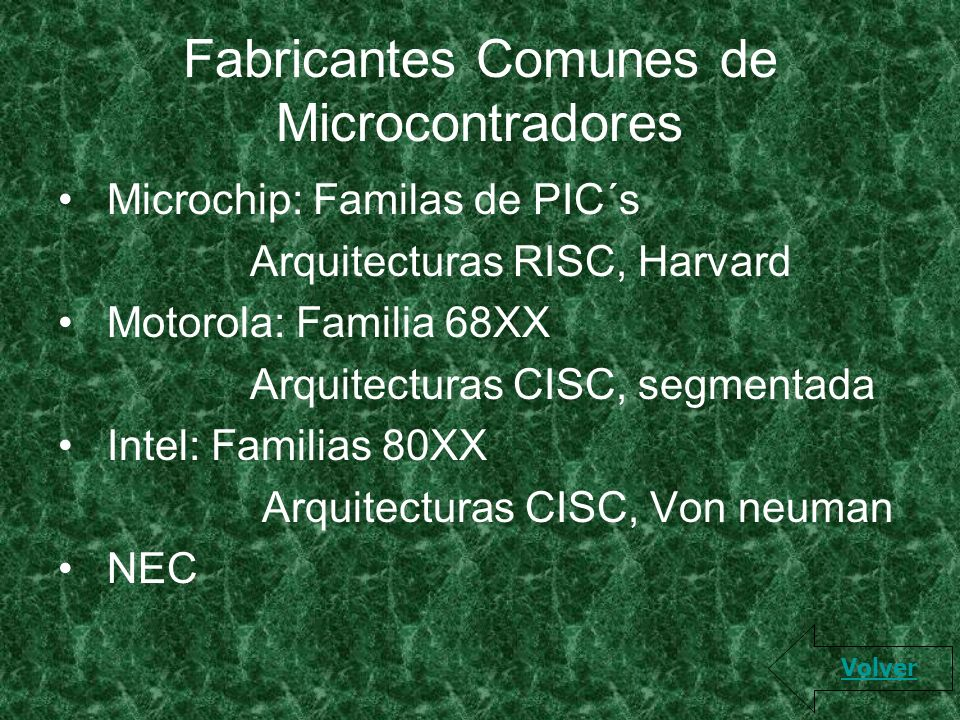 Fabricantes Comunes de Microcontradores