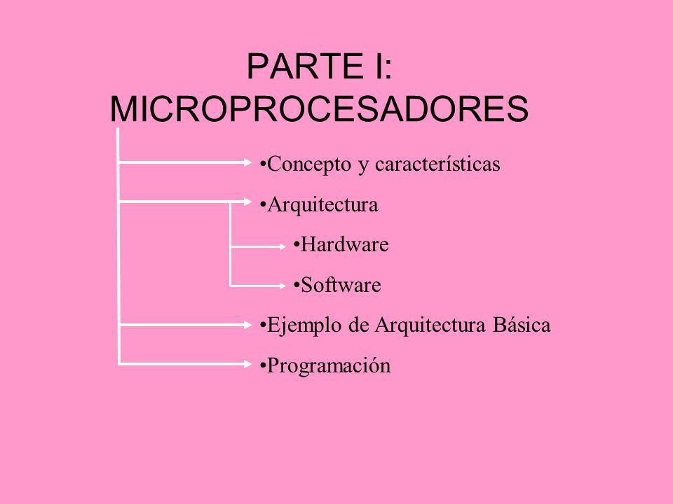 PARTE I: MICROPROCESADORES