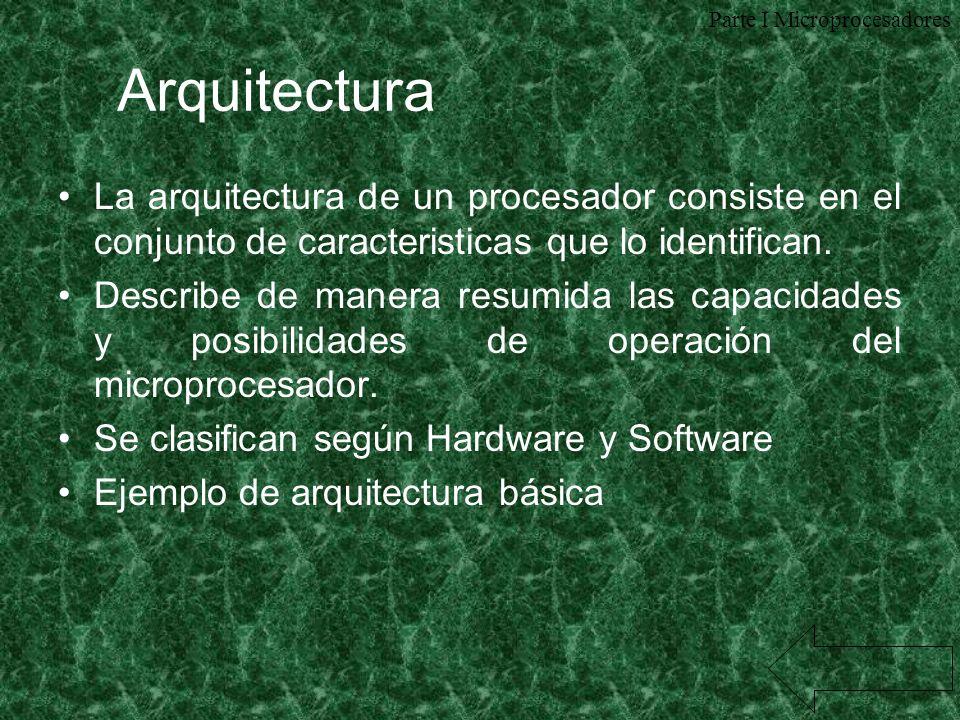Parte I Microprocesadores