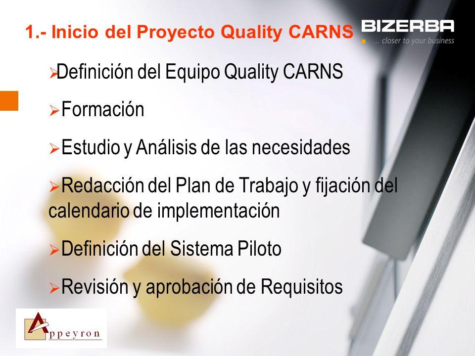 1.- Inicio del Proyecto Quality CARNS