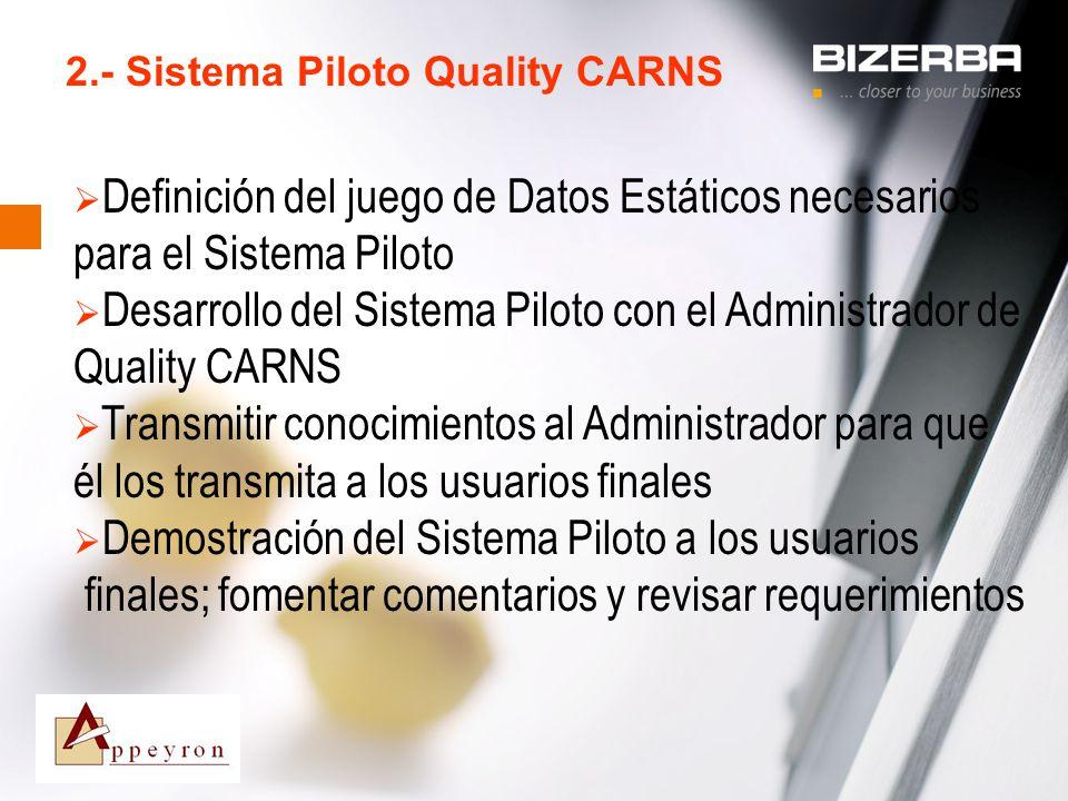 2.- Sistema Piloto Quality CARNS