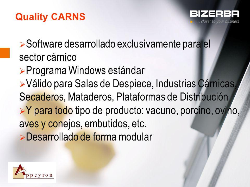 Software desarrollado exclusivamente para el sector cárnico
