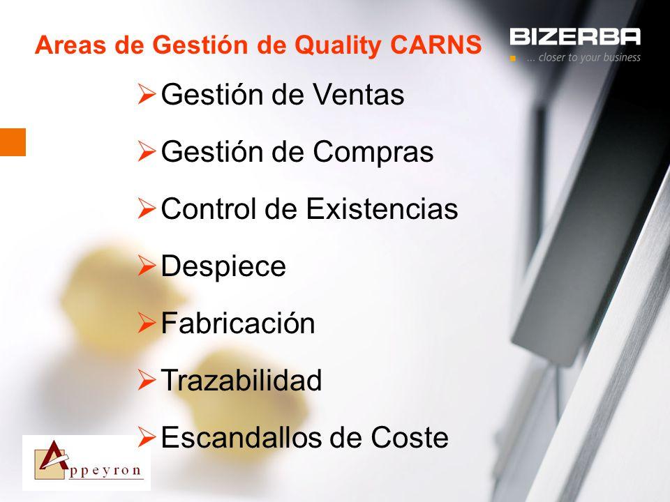 Areas de Gestión de Quality CARNS