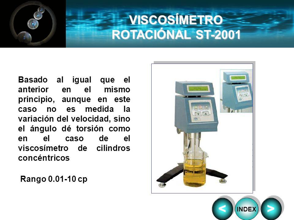 VISCOSÍMETRO ROTACIÓNAL ST-2001 < >