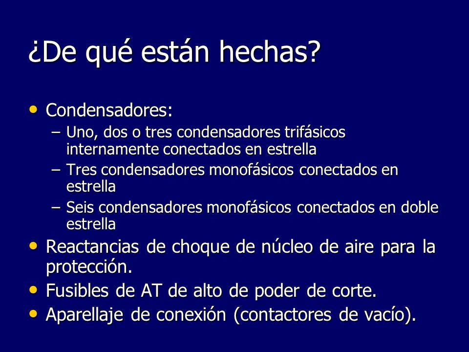 ¿De qué están hechas Condensadores: