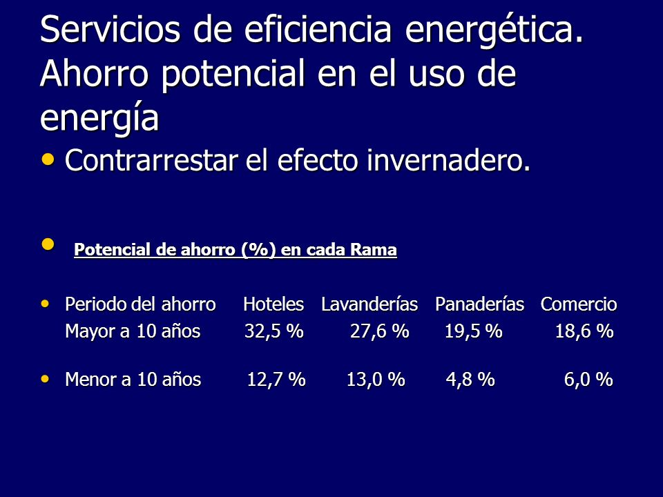 Servicios de eficiencia energética