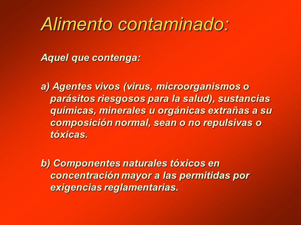 Alimento contaminado: