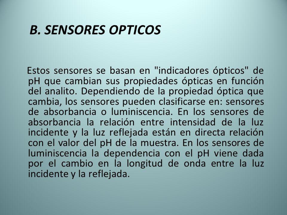 B. SENSORES OPTICOS