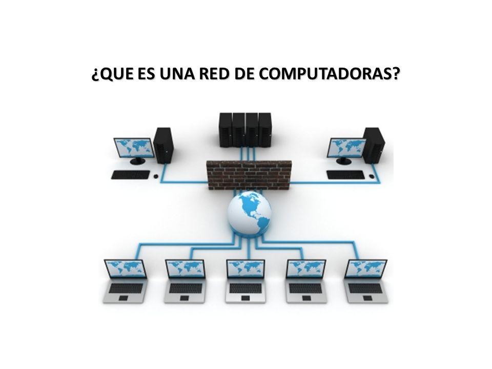 ¿QUE ES UNA RED DE COMPUTADORAS