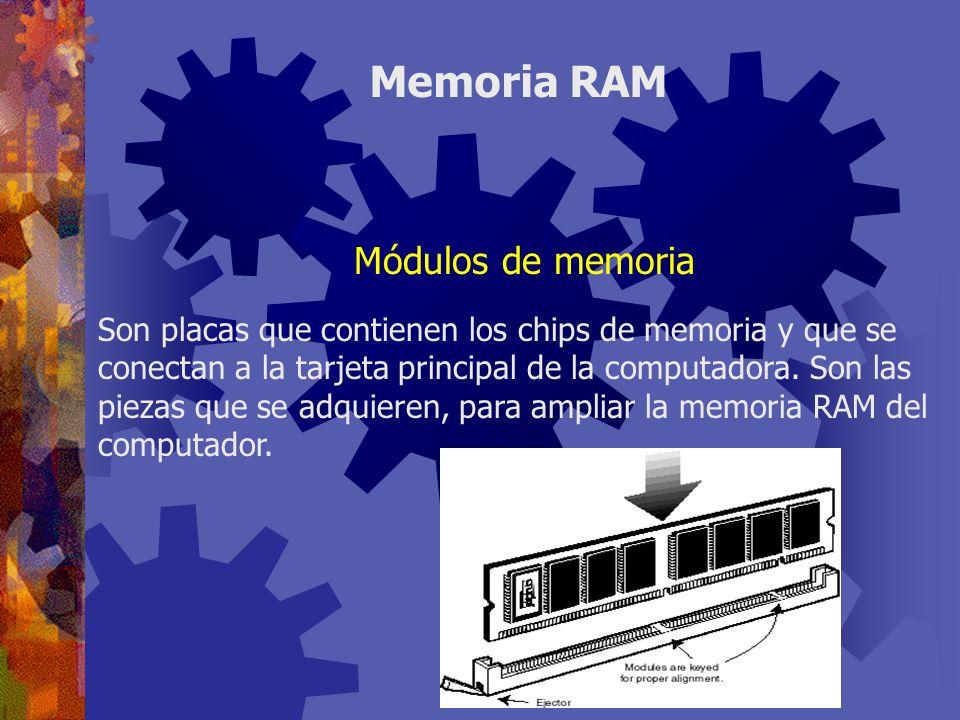 Memoria RAM Módulos de memoria
