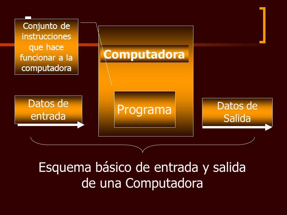 Esquema básico de entrada y salida de una Computadora