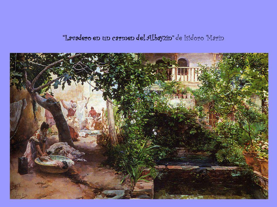 Lavadero en un carmen del Albayzín de Isidoro Marín