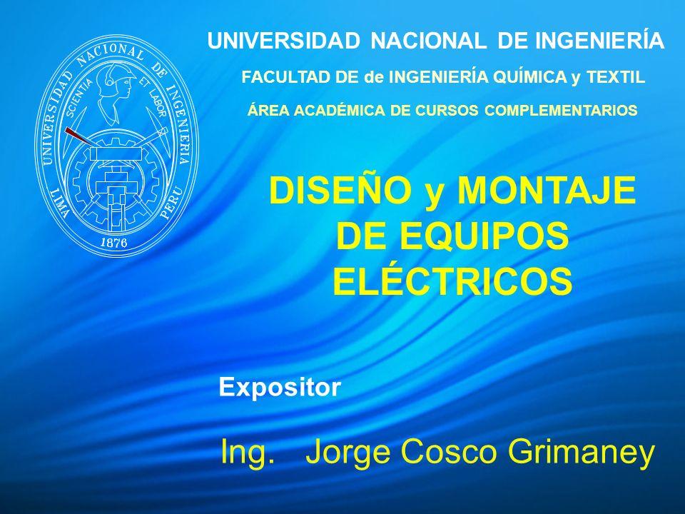 DISEÑO y MONTAJE DE EQUIPOS ELÉCTRICOS