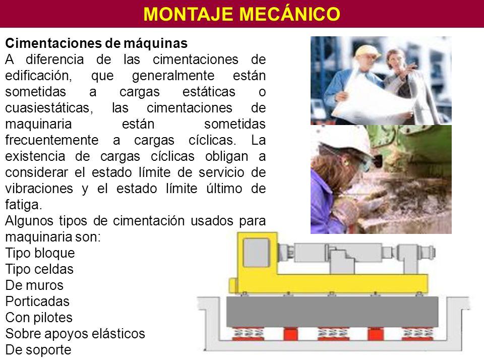MONTAJE MECÁNICO Cimentaciones de máquinas