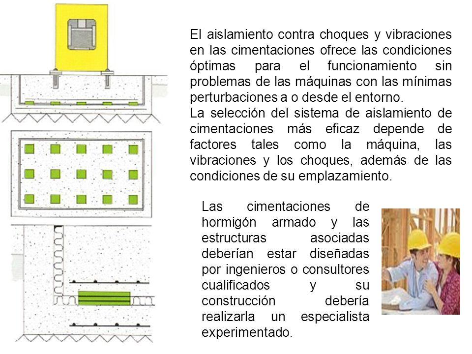 El aislamiento contra choques y vibraciones en las cimentaciones ofrece las condiciones óptimas para el funcionamiento sin problemas de las máquinas con las mínimas perturbaciones a o desde el entorno.