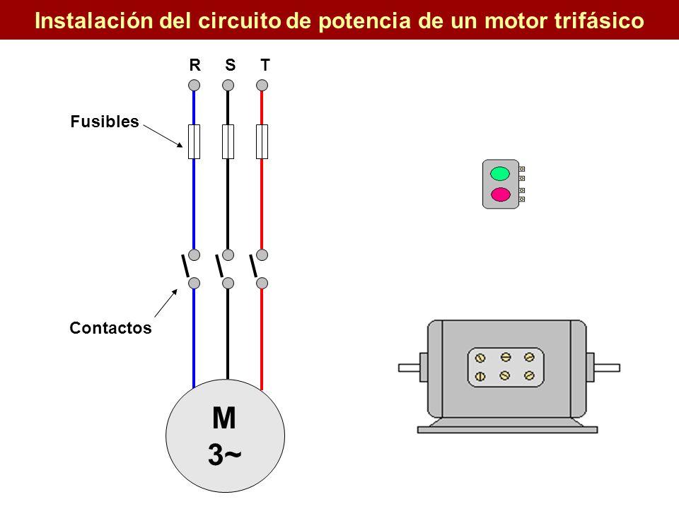 Instalación del circuito de potencia de un motor trifásico