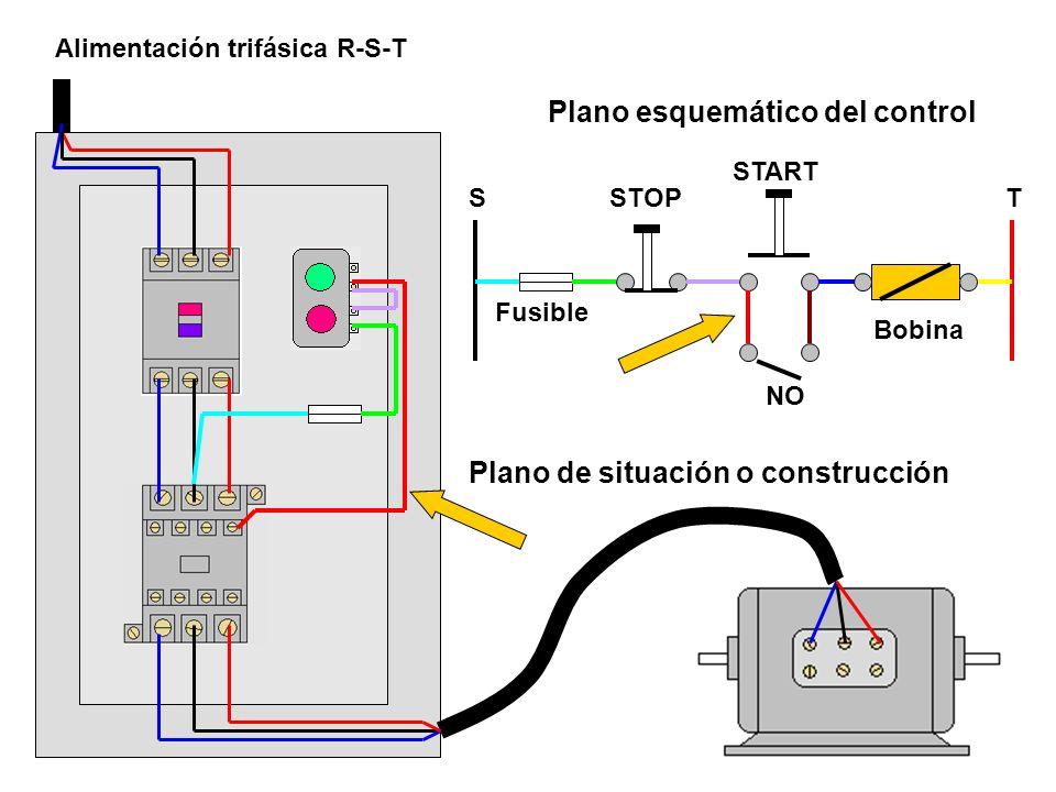 Plano esquemático del control