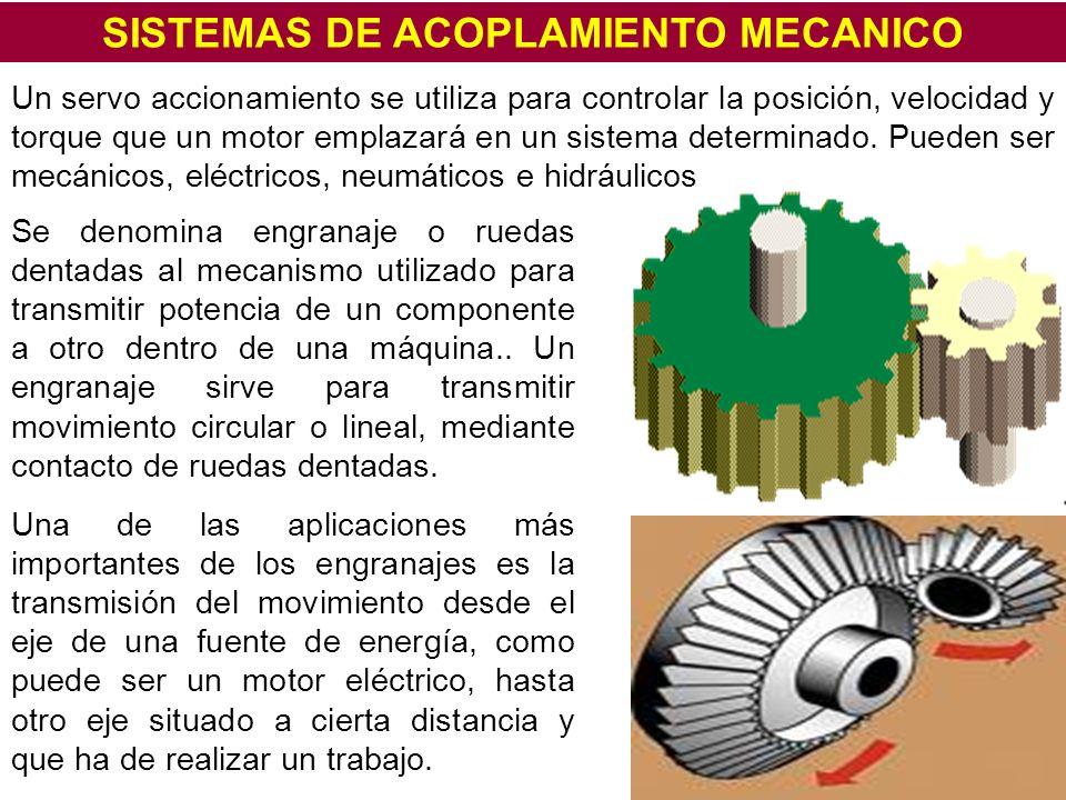 SISTEMAS DE ACOPLAMIENTO MECANICO
