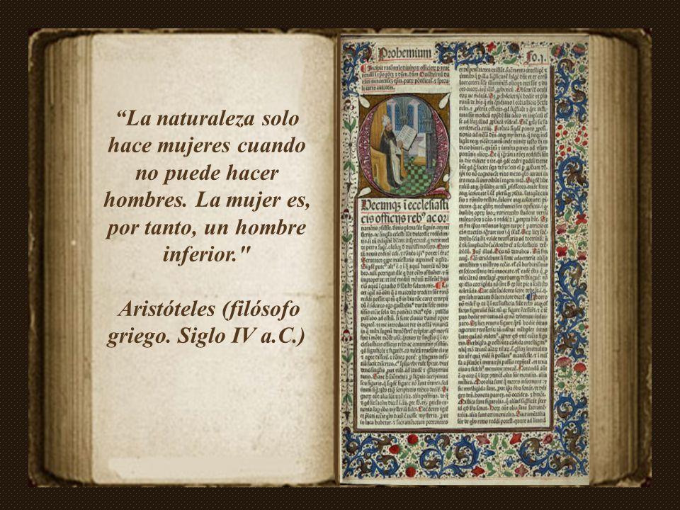 Aristóteles (filósofo griego. Siglo IV a.C.)