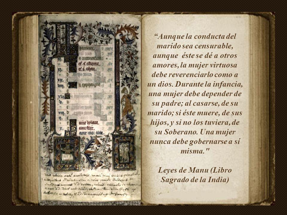 Leyes de Manu (Libro Sagrado de la India)