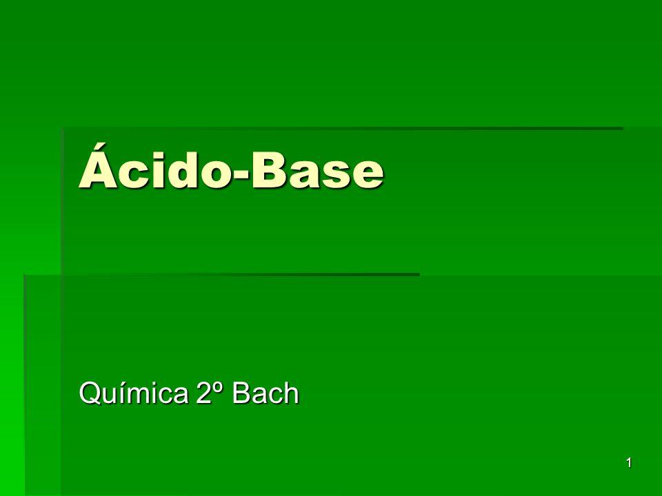 Ácido-Base Química 2º Bach