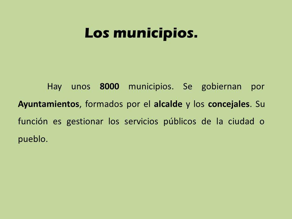 Los municipios.