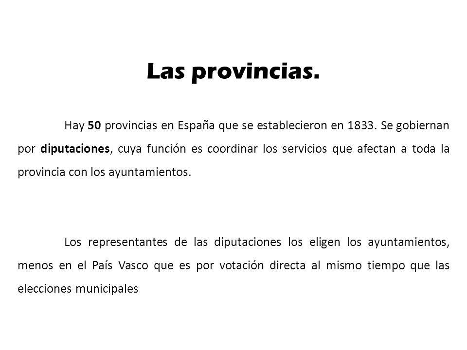 Las provincias.